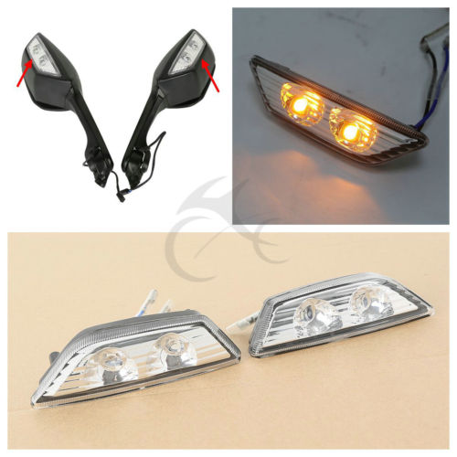 Turn Signal Indicators For Kawasaki Ninja ZX10R ZX-10R Rearview Mirrors 2011-2015