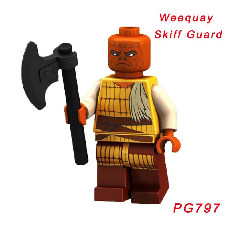 Weequay Skiff Guard Star Wars 75174 Desert Skiff Escape Building Block Toy Super Heroes Figures Toys For Children Pg797