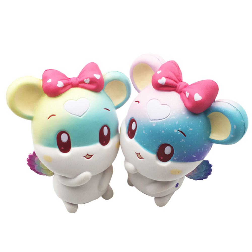 Cute Squishy Toys Stress Reliever Angel Lovely Mouse Scented Cartoon Kawaii Squishies Slow Rising Squeeze 20S8314 drop shipping
