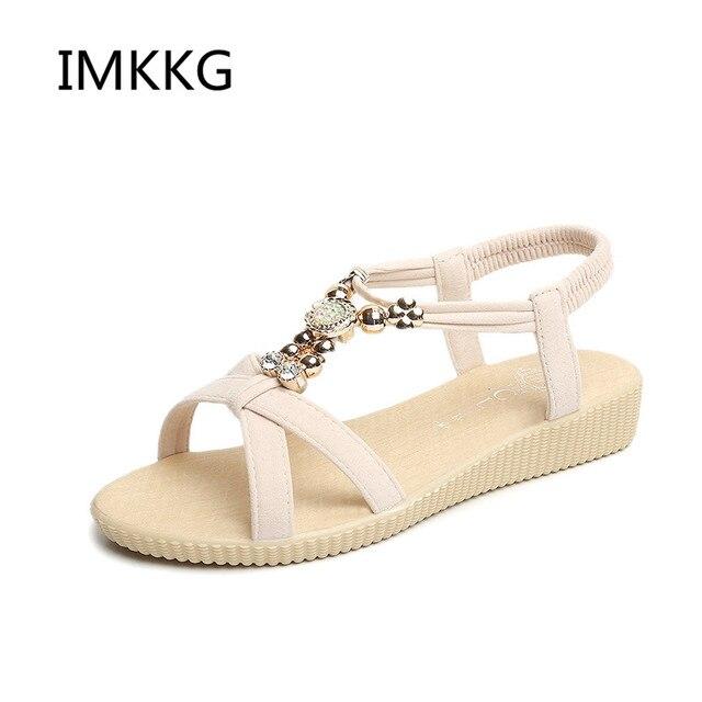 ca3c06e80c11df New Women Sandals Summer Fashion Flip Flops Female Sandals Flat Shoes  Bohemia Causal Ladies Footwear Solid Women Shoes V083