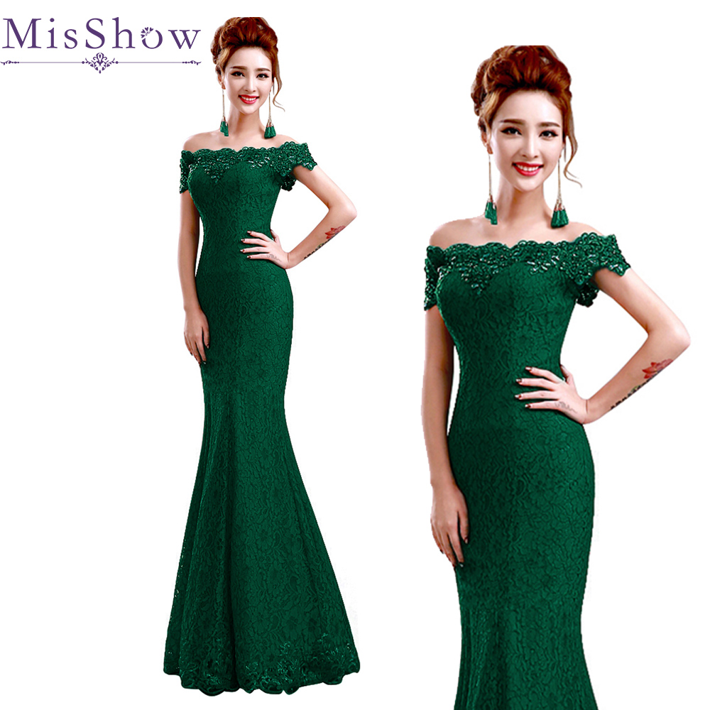 robe demoiselle d'honneur Green Long Lace   Bridesmaid     Dress   Mermaid Lace up Back For Women Wedding Guest Formal Party Gowns 2019