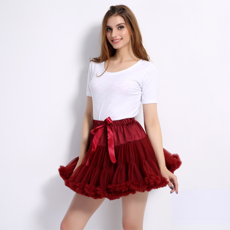Wholesale Short Tulle Dance Petticoat Crinoline Swing Ballet Dance Bubble Skirt Layered Puff Pettiskirt Wedding Underskirt
