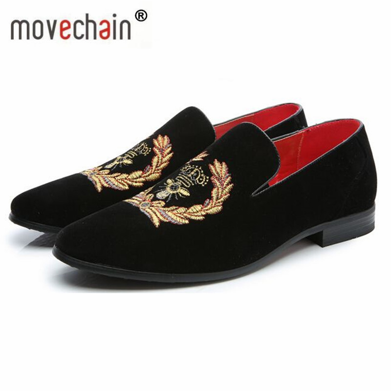 Men's Shoes Shoes Movechain Mens Fashion Luxury Brand Suede Leather Loafers Mens Casual Rhinestone Spider Moccasins Shoes Man Party Driving Flats