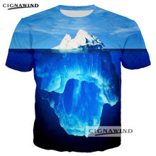 c1f0a8335b14 New Hip Hop t shirt men women tops tees Printed Ocean iceberg 3D t-shirt  casual tshirt streetwear unisex Harajuku t shirts tops