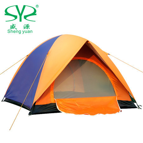 Double layer camping tent outdoor fishing tent winter waterproof tents gazebo sun shelter 3-4 person 4 season alltel high quality double layer ultralarge 4 8person family party gardon beach camping tent gazebo sun shelter