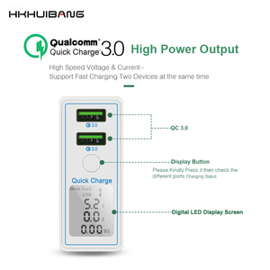 Image 2 - HKHUIBANG 36w usb charger QC 4.0 3.0 mobile phone charger for iPhone /Samsung /Xiaomi fast charger adapter led display