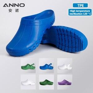 Image 1 - ANNO медицинские башмаки с ремешком, безопасные тапочки медсестры, Антистатическая Хирургическая Одежда для ног для женщин и мужчин, нескользящая обувь