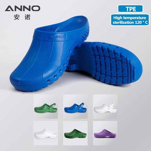 ANNO медицинские башмаки с ремешком, безопасные тапочки медсестры, Антистатическая Хирургическая Одежда для ног для женщин и мужчин, нескользящая обувь