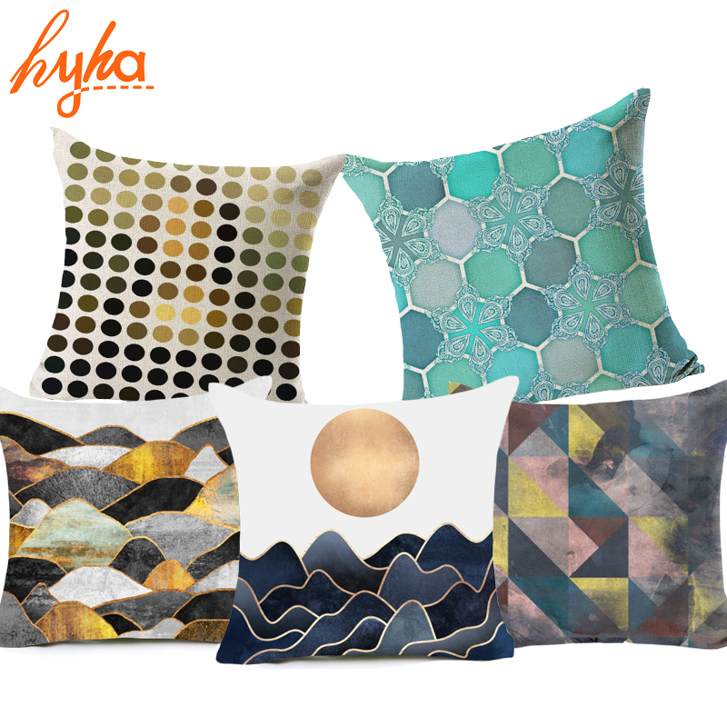 Hyha Geometric Cushion Cover Nordic Morocco Abstract Mosaic Style Home throw Decorative Pillows Cover for Sofa Cojines