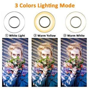 Image 3 - Dimmable Selfie Ring Light with Flexible Mobile Phone Holder Lazy Bracket Desk Lamp LED Light for Live Stream Office Kitchen