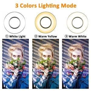 Image 3 - 調光対応 Selfie リングライト柔軟な携帯電話ホルダー怠惰なブラケットデスクランプ Led ライトライブストリームオフィスキッチン