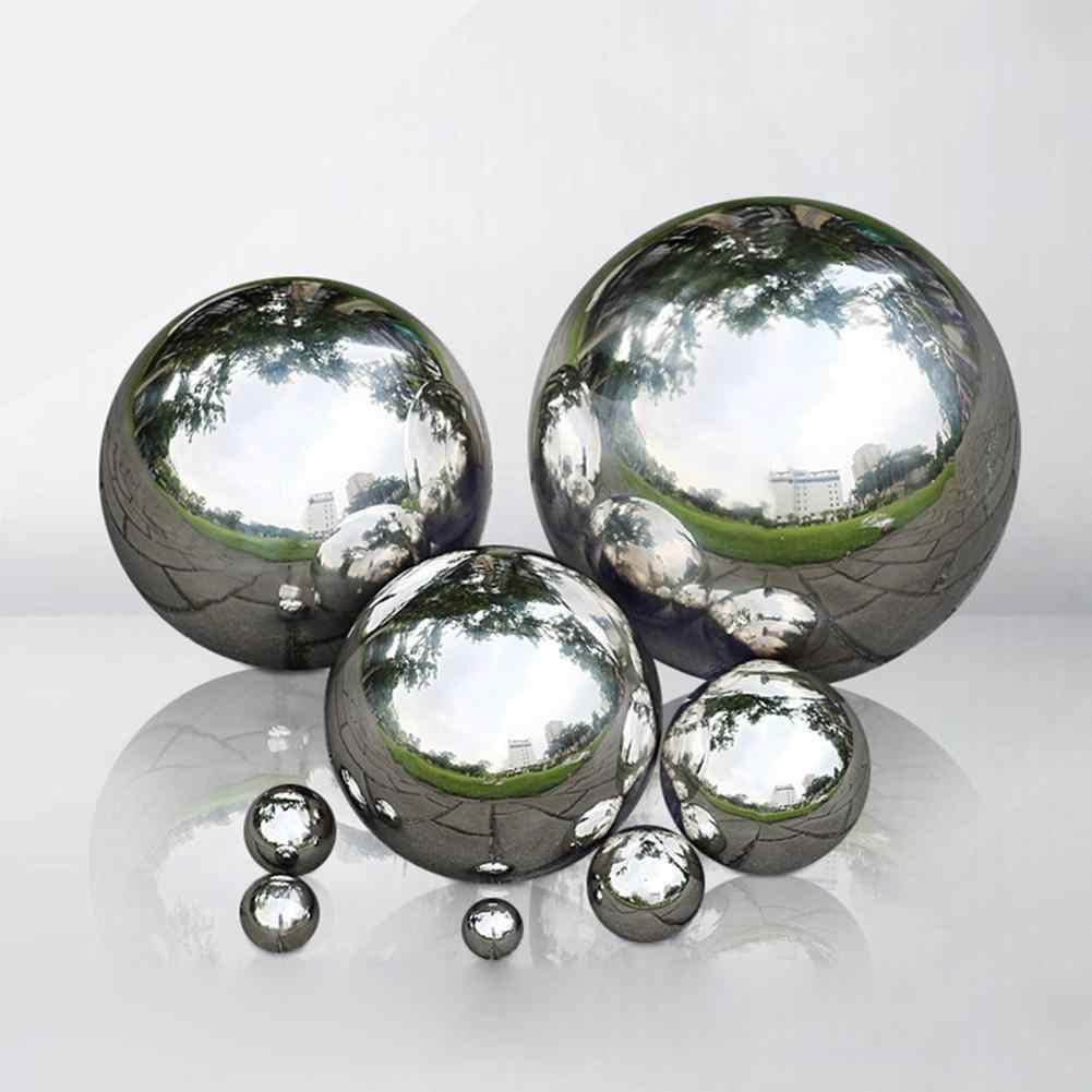 adorno de jard/ín 9 tama/ños Bola hueca de acero inoxidable 304 esfera de bola de espejo sin costuras duradera
