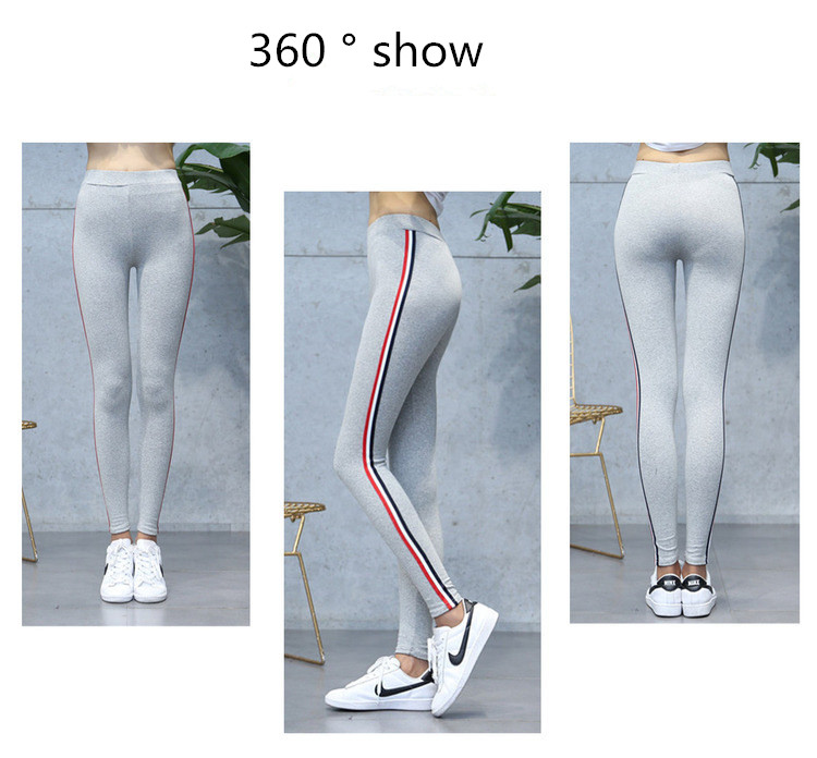 High Quality Cotton Leggings Side stripes Women Casual Legging Pant Plus Size 5XL High Waist Fitness Leggings Plump Female 28