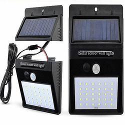 Outdoor 20 LEDs Split Solar Powered Light Bulb PIR Motion Sensor 3 Modes Waterproof Separate Garden Street Night Lamp Wall Light