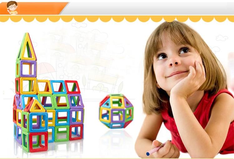 Classic Children Toys 72 pcs Magnetic Toy  include  30 PCS Triangle 30 PCS Square 3D MAGNETIC BUILDING BLOCKS Educational TOYS triangle ru bun lock children puzzle toy building blocks
