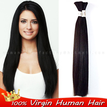 Unprocessed Brazilian Virgin Human Bulk Hair braiding Natural No weft attachment Original raw straight No Attachment bulk hair