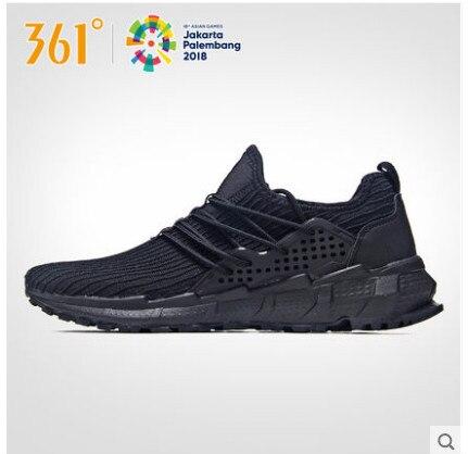 361 градусов Мужская обувь 2018 Весна Открытый Беговые кроссовки беговые кроссовки 361 черная сетка одежда кроссовки