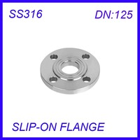 DN125 Stainless Steel SS316L RAISED FACE 4 Bolt SLIP ON FLANGE Industrial