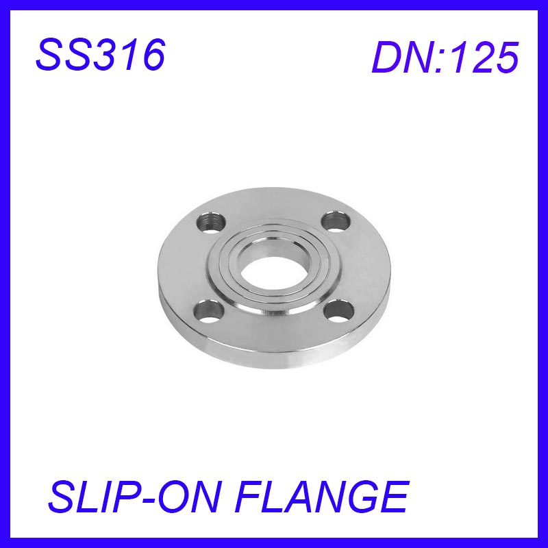 Фотография DN125 Stainless Steel SS316L  RAISED FACE 4-Bolt SLIP-ON FLANGE Industrial