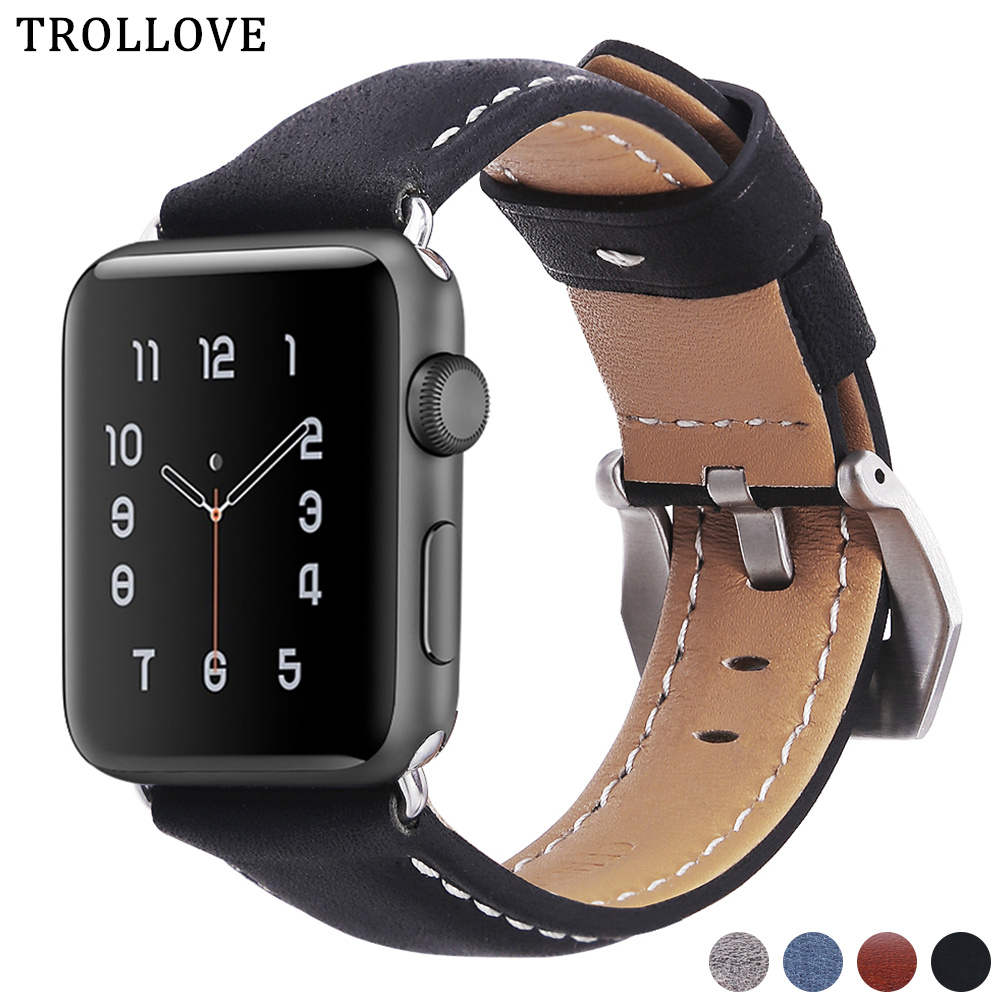 Permalink to Watchband For Apple Watch Band Series 3/2 38MM 42MM Leather Replacement Band Strap for iwatch Series 4 40MM 44MM Wrist Bracelet