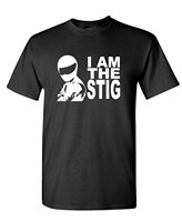Graphic Make A Tee Shirt I AM THE STIG Car Joke Ricer Gear Funny Mens Cotton