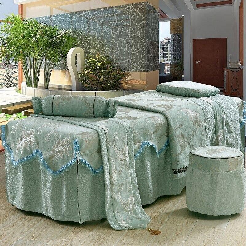 4567pcs customized size chenille beauty salon bedspread embroidery ruffles 70 - Chenille Bedspreads