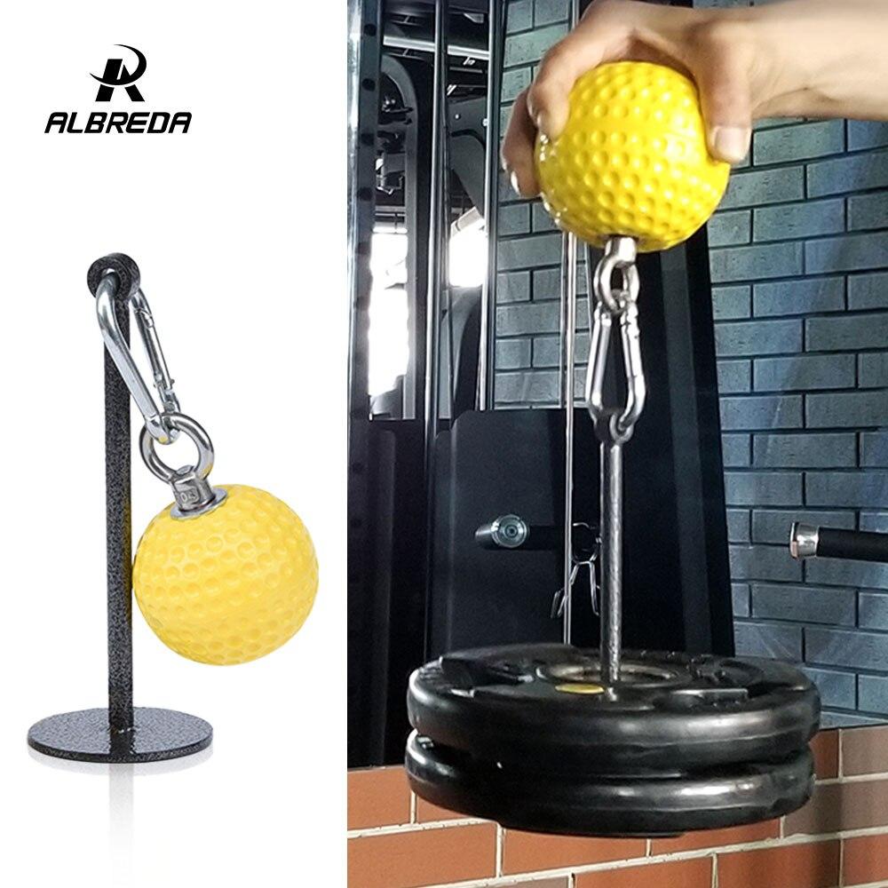 ALBREDA 7.2/9.7 cm Fitness balle à poignée exercice des bras accessoires Gym haltère ballon d'entraînement multi-fonction fitness accessoires 1 ensemble