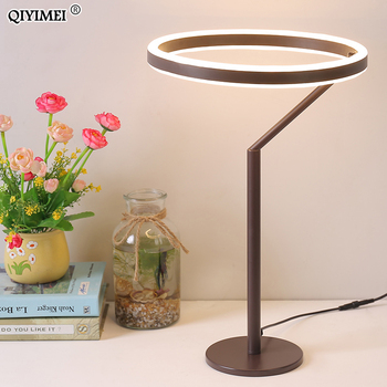 LED Table Lamp iron for Bedroom Reading Light Bedside Lamp Study Eye Protect US/EU Plug Dimable deco mariage 90-260v
