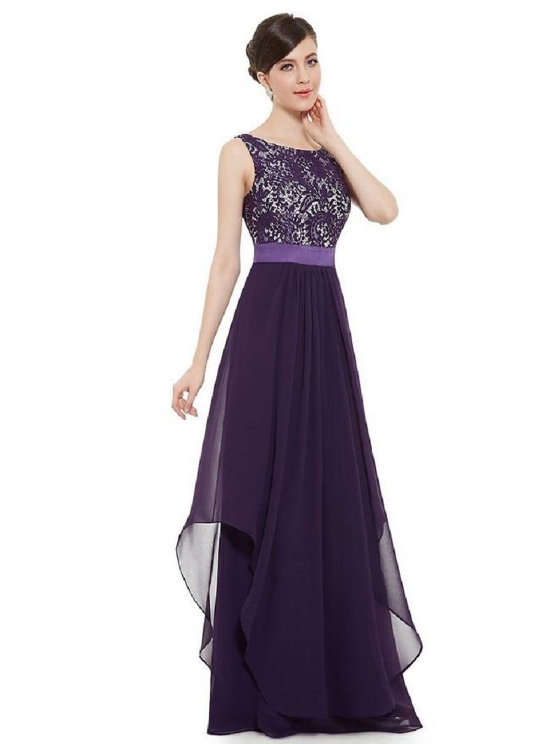 OLGITUM Summer Women Long Party Dress Sleeveless Chiffon Elegant Sexy Lace Casual Elegant Maxi Dresses Vestidos B386