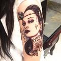 2pcs Angelina Jolie Waterproof Temporary Tattoo Metallic PunkTattoo Sticker large temporary tattoos choice Sticker Tattoo