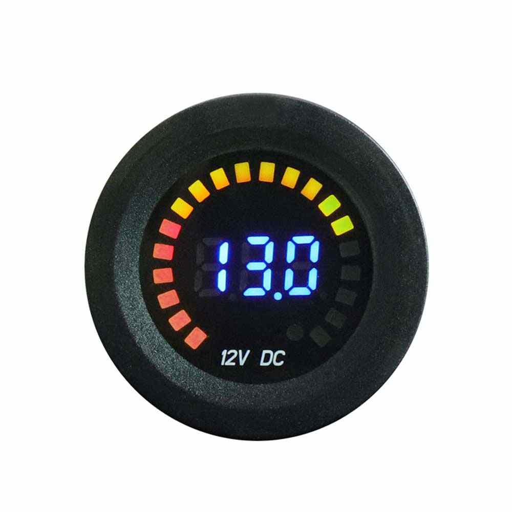 DC 12V Universal Car Motorcycle Boat LED Digital Voltmeter Panel Volt Meter Monitor Gauge Display Car Accessories