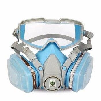 최신 가스 마스크 pvc 고글 6200 군사 통기성 안티 pm2.5 산업 먼지 화학 가스 연마 그림 작업 보호