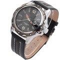 Top Marca de Luxo Relógio Militar Men Watch Auto Data Sports Relógios Pulseira De Couro Relógios Relógio relogio masculino reloj hombre