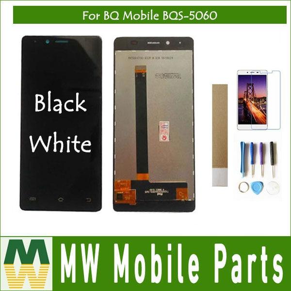 ЖК-дисплей и тачскрин в сборе, для мобильных телефонов BQ 5060, BQS 5060, BQS5060, BQ, BQ5060, черный, белый цвет