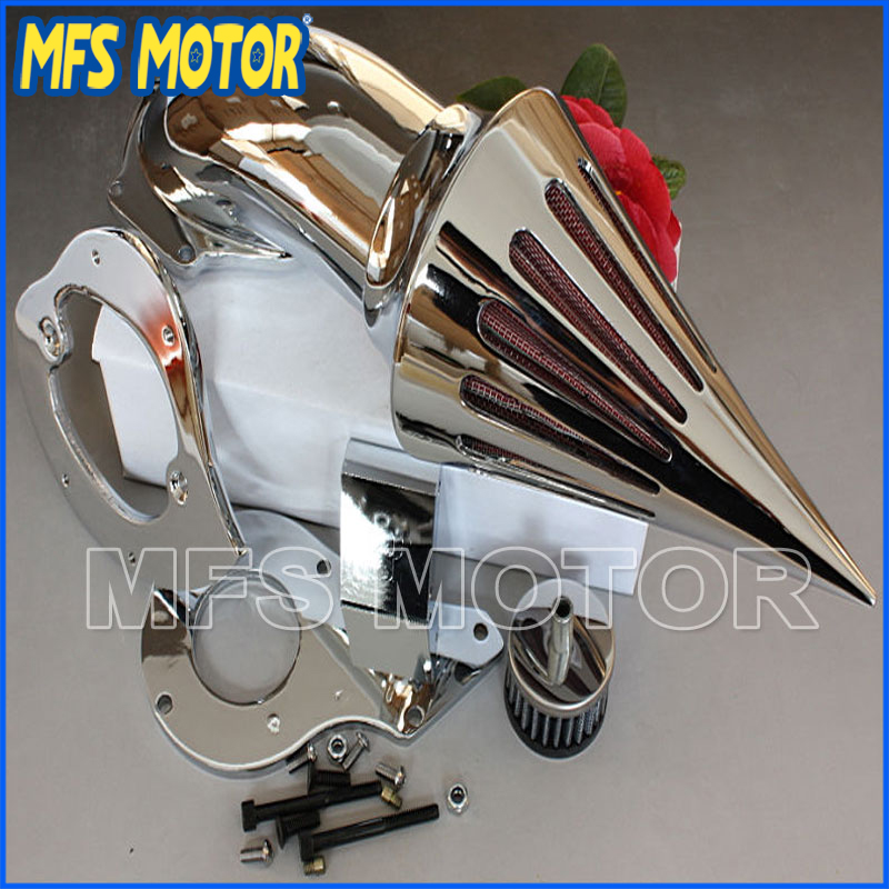 Nuovo Spike Air Cleaner Kit Filtro Per Honda Shadow 600 Vlx600 1999-2012 Chrome