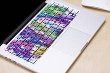 Free shipping Removable cute colorful dazzle and painting waterproof and dustproof keyboard stickers for computer mackbook air