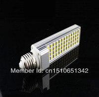 Heißer Verkauf G24/E27 12 Watt Warmweiß FÜHRTE Mais glühbirnen Horizontal Stecker 52LED 5050SMD LED lampe licht AC90 ~ 260 V