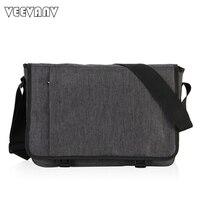 VEEVAN Designer Briefcase Men Messenger Bags Vintage Canvas Shoulder Bag Mens Buisness Bag Attache Laptop Case