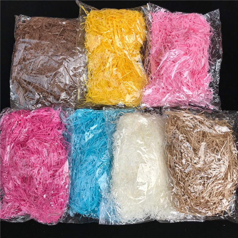 Shredded Paper Gift Box Filler Colorful Wedding Birthday Party Gift Packaging Decor Crinkle Cut Paper Shred Packaging Gift Bag