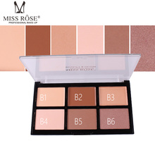 MISS ROSE 6 color high-gloss powder repairing concealer acne foundation cream waterproof whitening oil control makeup