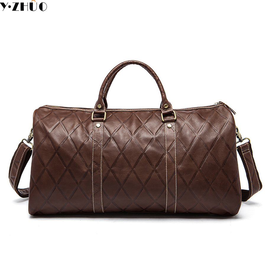 genuine leather men travel bags business handbags really cowhide men shoulder duffel bags diamond messenger crossbody bag big pocket pad genuine business greased leather cowhide travel crossbody 14laptop shoulder messenger book shopping fashion bags
