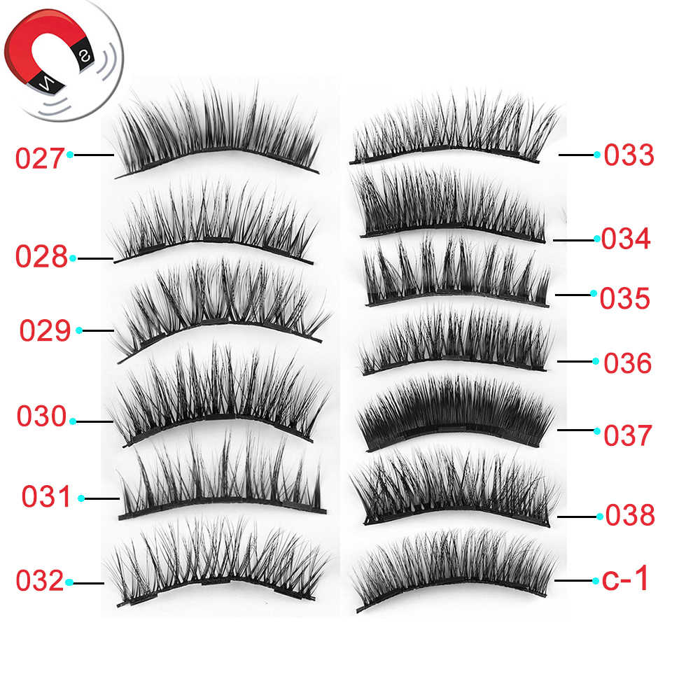 e03cf2ee6da 1Set Triple Magnetic False Eyelashes Makeup Handmade Full Coverage Magnet  Eye Lashes Thick Long Fake Eyelashes