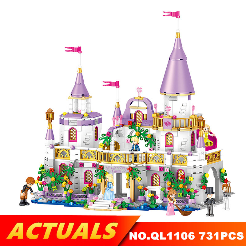 Lepin 731PCS Creator Princess Windsors Castle Legoing Building Blocks Self-Locksing Bricks Gift Toys for gril