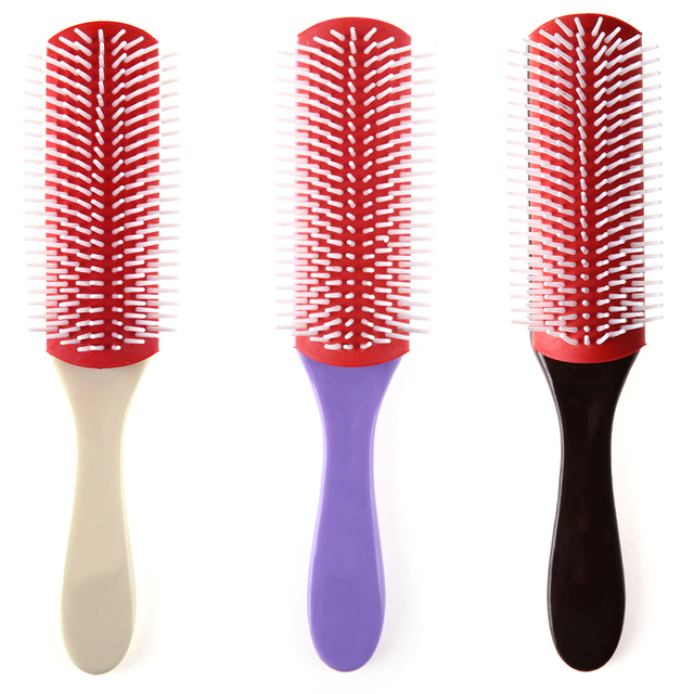 Oil Head Hair Fine Massage Combs Brushes Men Anti-static Magic 9 Rows Hair Brush Comb Salon Styling Hairdressing Scalp Massager