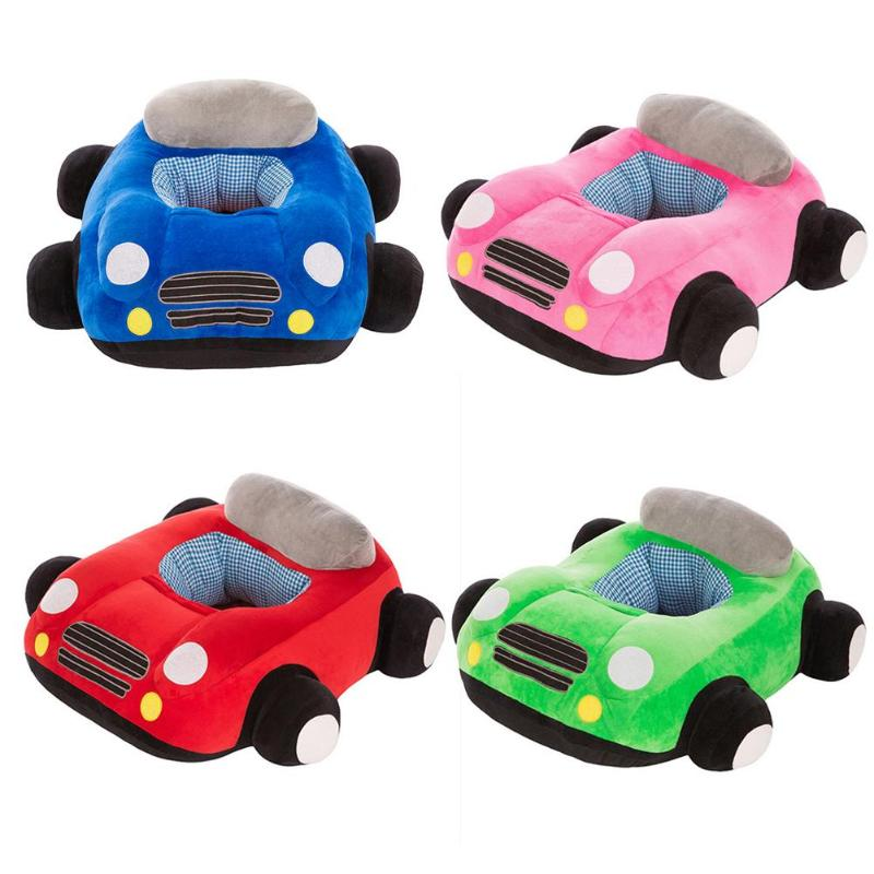Baby Seats Sofa Toys Cartoon Cute Car Seat Support Seat Baby Plush Without Pp Cotton Car Sofa Plush Toy Blue Pink Red Green