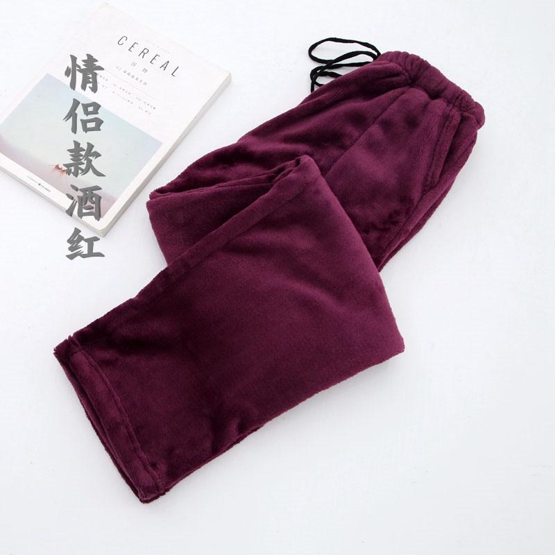 Fdfklak Winter Couple Flannel Thicker Warm Pijama Pants Women Pyjama Trousers Women Pijama Bottoms 10 Styles Sleeping Pant Q519