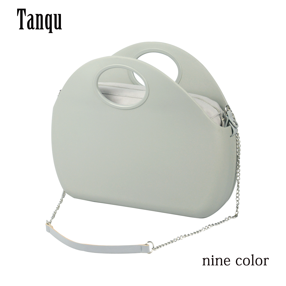 2019 TANQU New O bag moon Body with waterproof inner pocket Long chain handle for Women