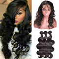 Top Pre Plucked 360 Frontal With Bundles Malaysian Body Wave 360 Lace With Bundles Malaysian 360 Lace Virgin Hair With Bundles