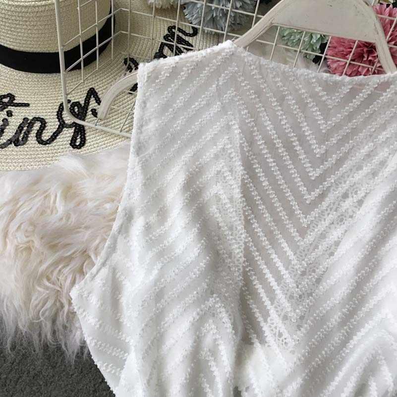NiceMix 2019 новые модные женские комбинезоны летние с v-образным вырезом полые из вязаного цветочного кружева талии без рукавов комбинезон широкие брюки