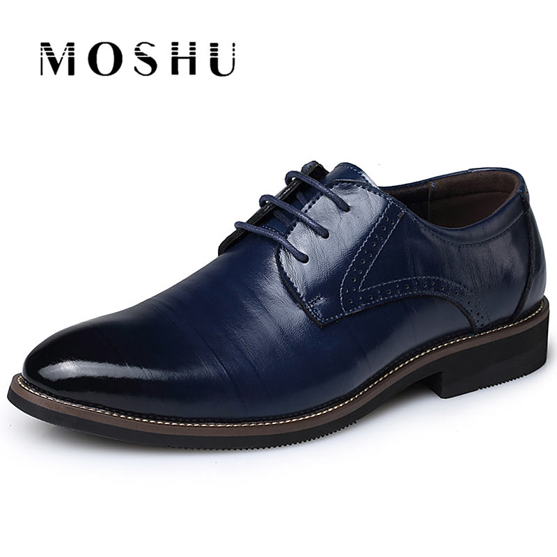 Summer Fashion Men Flat Classic Genuine Leather Lace Up Shoes Formal Oxford Zapatos Hombre Plus Size